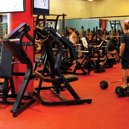 Fitness First Dubai Financial center weight lifting area