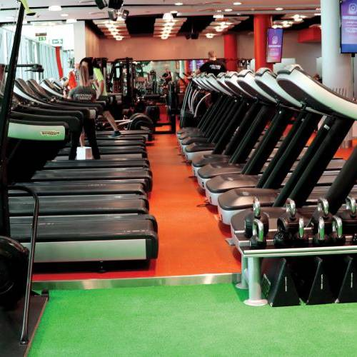 Fitness First Dubai Financial center treadmills and cross machines area