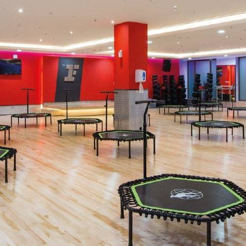 Fitness First Al Seef mall trampolines