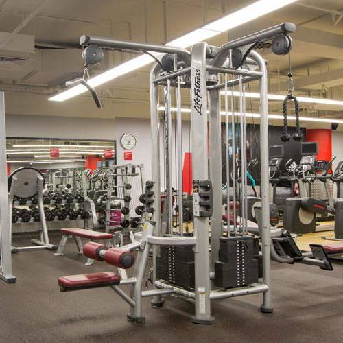Fitness First Marina mall weight-lifting and cardio machines