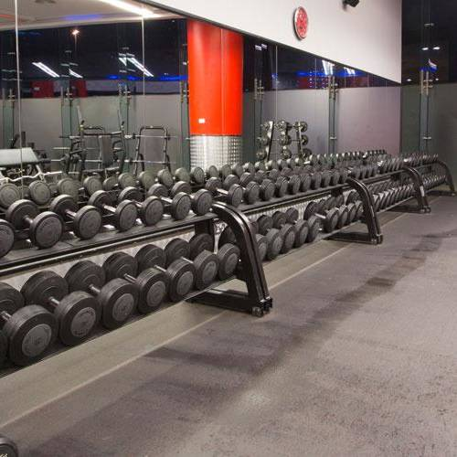 Fitness First Deira City Center dumbbells and benches (weight lifting area)