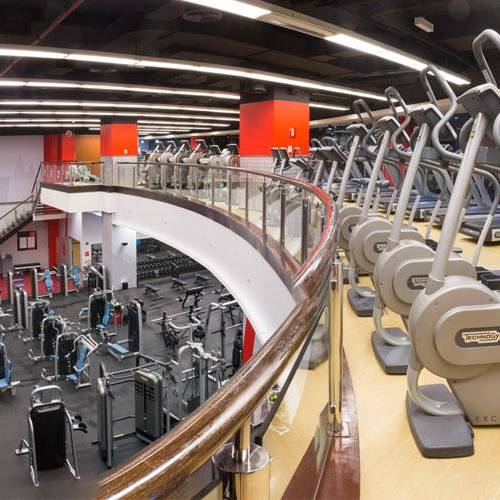 Inside Fitness First Deira city center 2nd floor - treadmills and cross bicycle