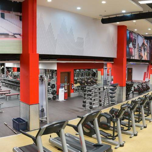 Inside view of Fitness First Motor city
