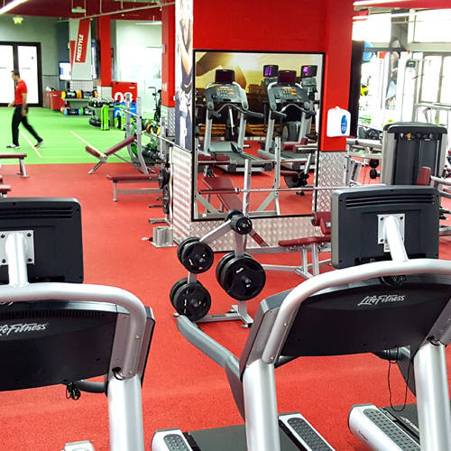 Fitness First Arabian Ranches treadmills and weight lifting equipment