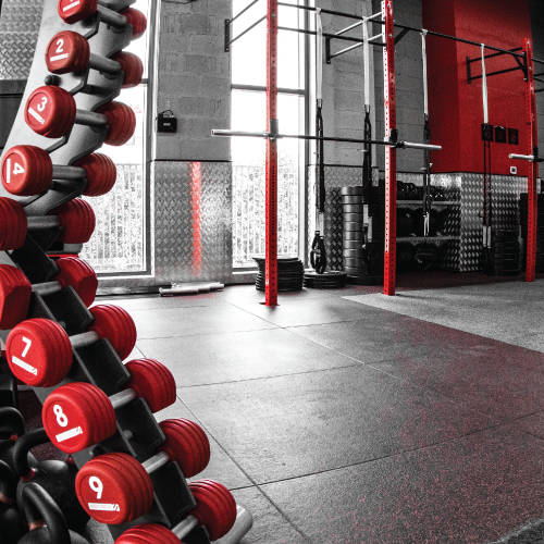 Fitness First Mudon Athletic Concept - dumbbells and strength area