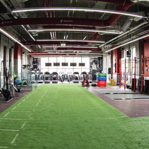 Inside view of Fitness First Mudon Athletic concept