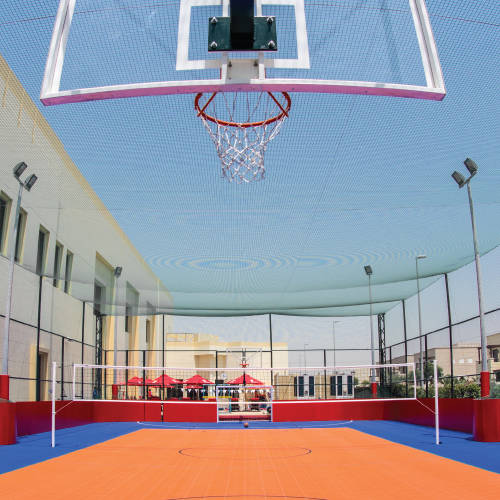 Fitness First Mudon Athletic Concept basketball and tennis court