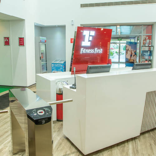 Fitness First The Lakes reception area