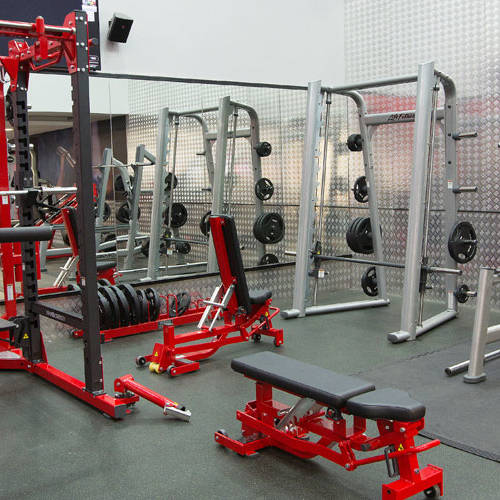 Fitness First Media City weight lifting area