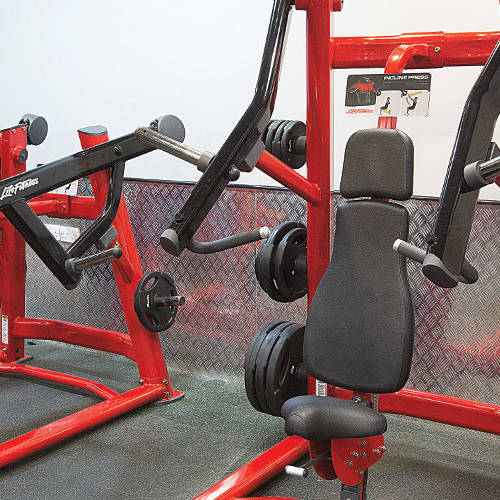 upper body exercising machines in Fitness First Dubai Media city