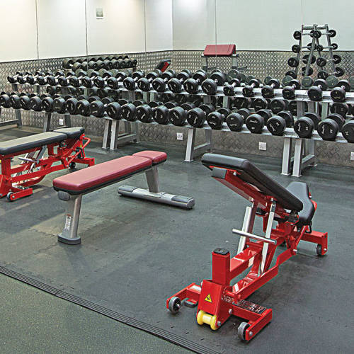 Fitness First Dubai Media City dumbbells and benches