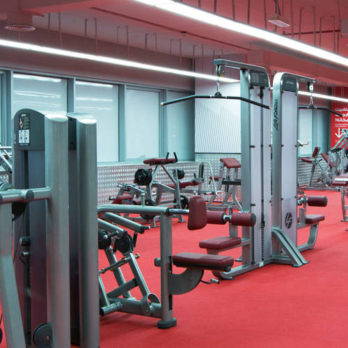 Fitness First Al-Barsha weight lifting workout space and equipment