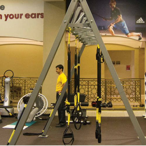Fitness First Al-Manzil workout area and equipment