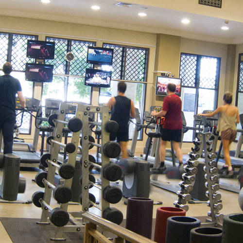 Fitness First Al-Manzil weight lifting equipment and treadmills